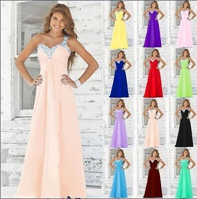 New Chiffon Formal Wedding Bridesmaid Dress Evening Party Ball Gown Prom 6-18