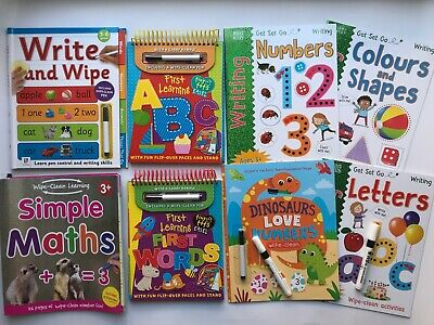 Children/Kids Preschool/Early Learning Educational Wipe Clean Writing Work Books
