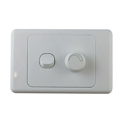 2 Gang Wall Plate with Switch & LED Light Dimmer SAA - Trailing Edge