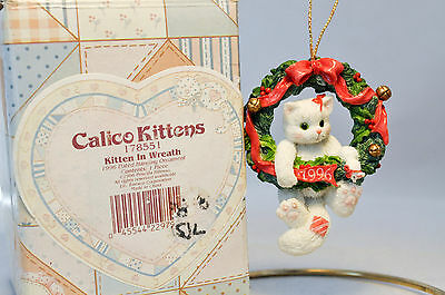 Calico Kittens: Kitten in Wreath - 178551 Holiday Ornament