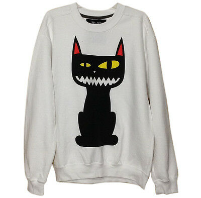 Wholesale Lot 9 Pcs Forever 21 Sweatshirts Mad Cat Unisex Made in USA Warm Shirt