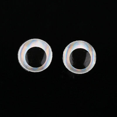 500 6mm Silver 3D Holographic Fishing Lure Eyes. Fly Tying, Jigs, Craft, Dolls