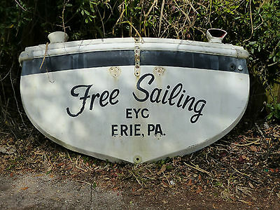 """Free Sailing"" Boat Stern Transom Bar Restaurant Man Cave Decor Prop"
