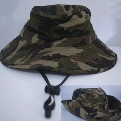 QUALITY Boys Kids Child Adult Camouflage Camo Army Bucket Sun Hat Cap Wide Brim