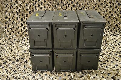(6 PACK) 50 Cal M2A1 AMMO CAN VERY GOOD CONDITION  * FREE SHIPPING  *