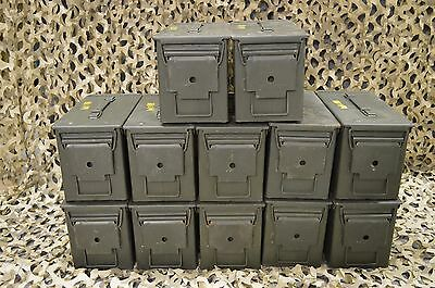 (12 PACK) 50 Cal M2A1 AMMO CAN VERY GOOD CONDITION   * FREE SHIPPING  *