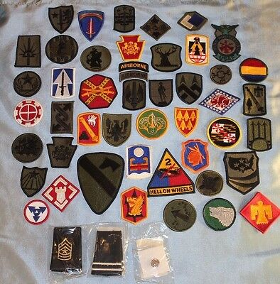 New Lot of 50 Different U.S. Military Unit Patches & Insignia, No Duplicates!