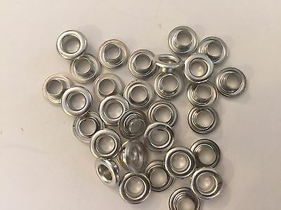 "100 #0(1/4"") Nickel Plated Solid Brass Self Piercing Grommets & Washers 100 Pair"