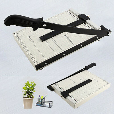 New Professional Office Guillotine A4 Paper Photo Card Cutter Trimmer Heavy Duty