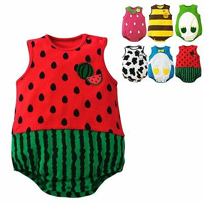 Newborn Kids Baby Boys Girls Toddler Romper Jumpsuit Bodysuit Outfit Clothes NEW