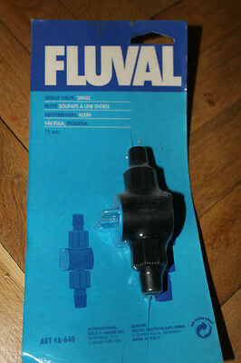 Fluval single Valve - Small (A-64) - BRAND NEW (DL)