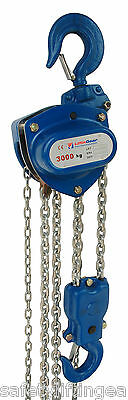 LiftinGear 3000kg x 15mtr Chain Block & Tackle Manual Hand Lifting Pulley Hoist