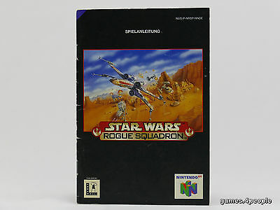 Star Wars Rogue Squadron * Anleitung / Manual / Booklet * für Nintendo 64 / N64