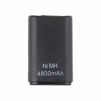 4800mAH Rechargeable Battery Pack for Xbox360 Wireless Controller Black Dual F72