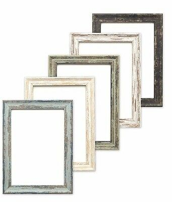 Industrial vintage distressed wood effect/Camouflage Picture/Photo/Poster frame