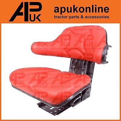 New Quality Universal Suspension Seat Tractor Dumper Forklift Mower Digger Red