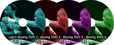 Learn Boxing Training 4 DVD Program Video Guide Fitness Cardio Workout Exercises