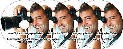 Learn Digital Photography Camera Training 4 DVD Tutorial + Photoshop Guide Video
