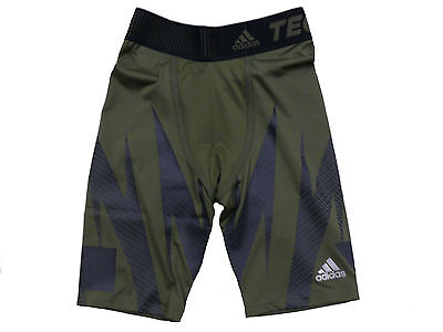 adidas Performance Compression Shorts Tight Techfit - Green Size M