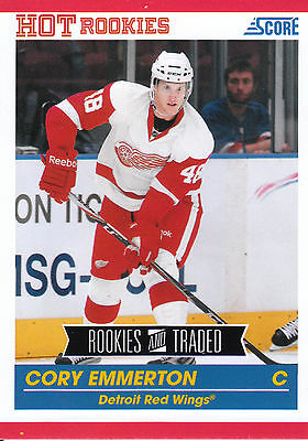 10/11 Score Rookies & Traded Hot Rookie Rc #606 Cory Emmerton Red Wings *3657