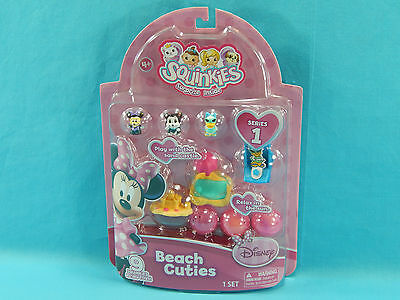Squinkies Minnie Mouse Series 1 Beach Cuties Tiny Toys Bubble Pack Sealed Disney
