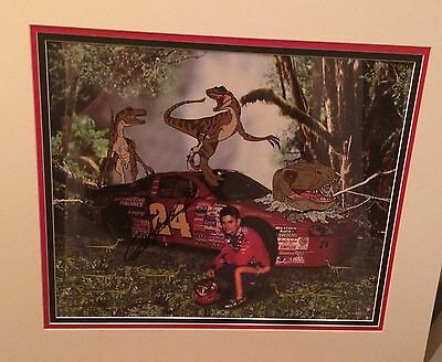 Jeff Gordon Autographed Jurassic Park cel with COA UNFRAMED