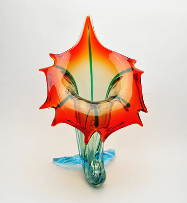 Murano Art Glass Rare colored Jack in the Pulpit Vase