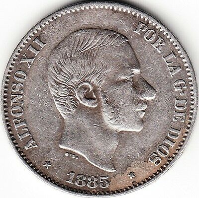 Philippines / 50 Cents De Peso 1885, Alfonso Xii
