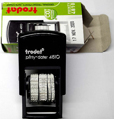 TRODAT 4810 DATE STAMP, SELF INKING RUBBER, DATER 3.8mm (H)