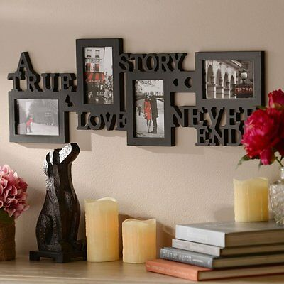 "Photo Frame Wall Home Decor Picture Family Collage ""A Love Story"" Romantic Gift"