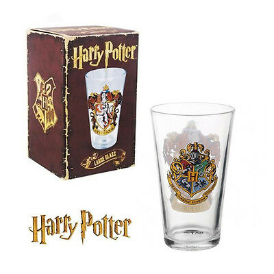 Harry Potter Gryffindor Crest Pint Glass Tumbler Boxed Official Licensed