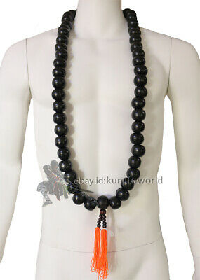 Shaolin Warrior Monk Adornment Big Beads Necklace for Kung fu Uniforms Suit