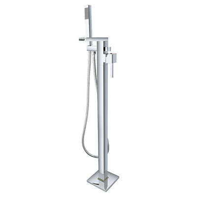 Free Standing Chrome Bath Mixer Filler Shower Tap Open Spout FS006