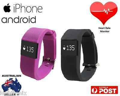 Heart Rate Activity Tracker Monitor Fitbit HR style Alta Flex iPhone Android