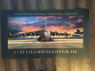 Glossy IN COLOR US Air Force Poster-C-17 Globemaster 111- circa 1990s