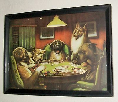 Two Prints - Early Dogs Playing Poker Prints Cm Coolidge 1921