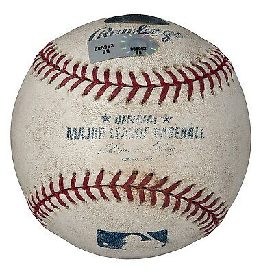 JOHNNY CUETO GAME USED 2008 ROOKIE SEASON PITCHING BALL vs HIROKI KURODA DODGERS