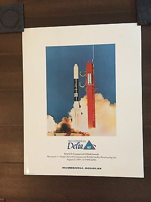 Glossy IN COLOR First Commercial Delta 187 Orbital Launch Poster- 1990