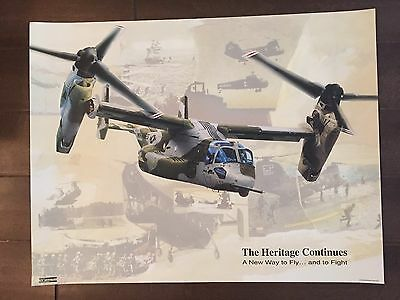 Glossy IN COLOR V-Tiltrotor Aircraft Poster- 1992