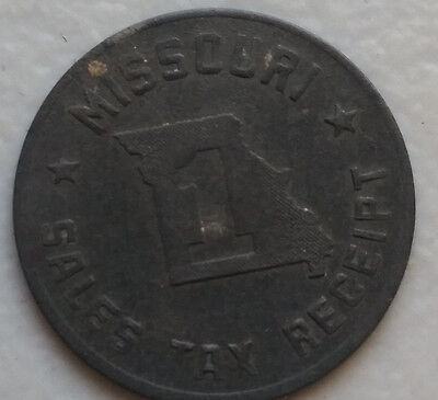 Vintage Missouri Sales Tax Receipt Token Coin # 1