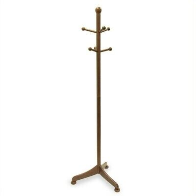 Winsome 6 Pegs Standing Coat Rack in Antique Walnut Transitional