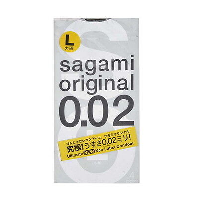 Sagami Original 002 Condoms Ultra Thin 0.02mm (4pcs) L Size Japan Non Latex AU