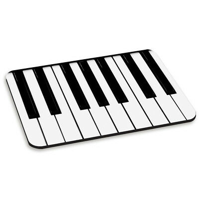 PIANO KEYS KEYBOARD PC COMPUTER MOUSE MAT PAD - Funny Music Black and White