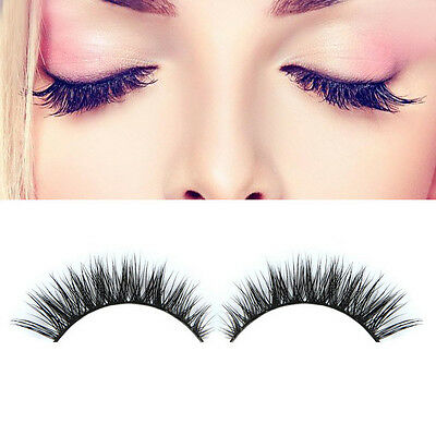 Hot Nice 3D Natural Bushy Cross False Eyelashes Mink Hair Handmade Eye Lashes