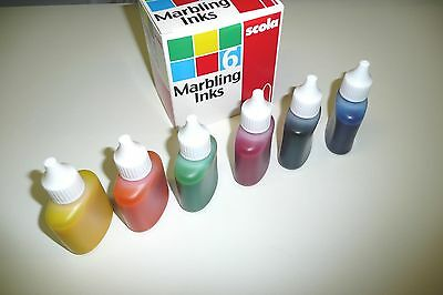 Standard Marbling Inks. Set  of 6 Assorted Colours