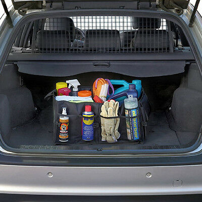 Foldable Car Boot Organiser Box Tidy Heavy Collapsible Trunk Storage Bag Black