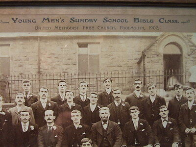 Framed young mens bible study group photograph ,antique, Victorian,Edwardian
