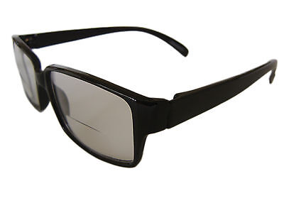 Gents Clear Bifocal Reading Glasses, 'new'  Choice Of Black Or Brown.