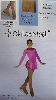 Ice Skating Tights Tan Over Boot Chloe Noel