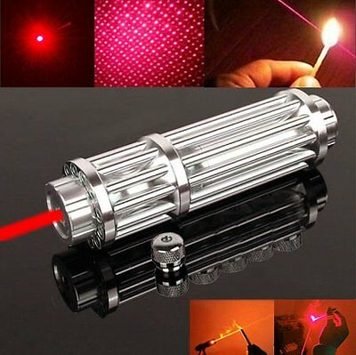 Red Laser Pointer Pen Powerful Military Adjustable Focus Beam Battery 650nm 5mW